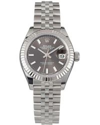 Rolex Наручные Часы Oyster Perpetual Lady Datejust 28 Мм Pre-owned - Серый