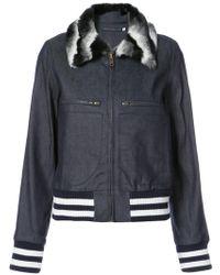 Harvey Faircloth - Collared Zip Denim Jacket - Lyst