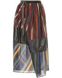 Kolor - Panelled Midi Skirt - Lyst