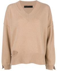 FEDERICA TOSI - Cut-detail Flared Sweater - Lyst