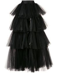 Oscar de la Renta ティアード スカート - ブラック