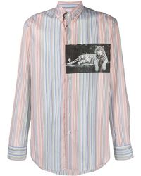 Etro Gestreept Overhemd - Naturel