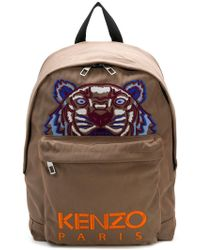 Kenzo Black Tiger Logo Embroidered Backpack in Black for Men - Lyst e94d2a7e50a59