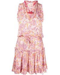 Poupette フローラル シフトドレス - ピンク