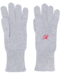 Raf Simons Heroes Embroidery Gloves - Gray