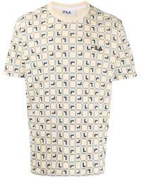 Fila - Agostino Logo-print T-shirt - Lyst