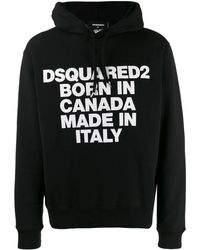 DSquared² - Graphic Hoodie - Lyst