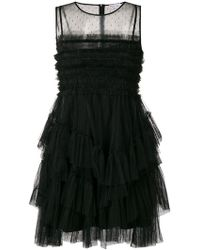 RED Valentino - Ruffled Tulle Dress - Lyst