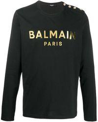 Balmain ロゴ Tシャツ - ブラック
