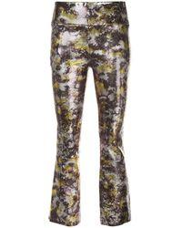 SPRWMN - Pantalon crop imprimé - Lyst