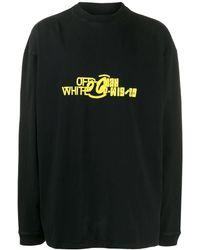 Off-White c/o Virgil Abloh Logo Print Hoodie - Black