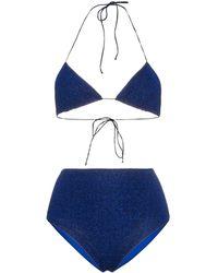 Oséree Lumi�re High-waisted Bikini - Blauw