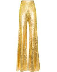 Halpern High-waisted Flared Trousers - Metallic