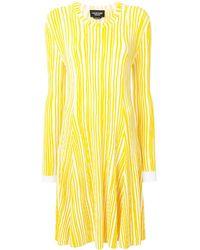 CALVIN KLEIN 205W39NYC Striped Knit Dress - Yellow