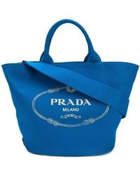 8b7d598cc Prada Pink Small Gardener Canvas Tote in Pink - Lyst