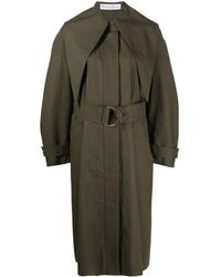 JW Anderson Belted Trench Coat - Green