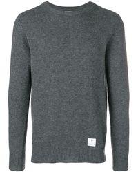 Department 5 ロゴパッチ セーター - グレー