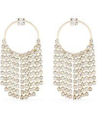 Rosantica Crystal Drop Earrings - Metallic