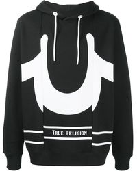 True Religion ロゴ パーカー - ブラック