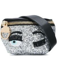 Chiara Ferragni Flirting Glittered Belt Bag - Metallic