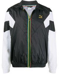 PUMA ストライプ テーラード ジャケット - ブラック