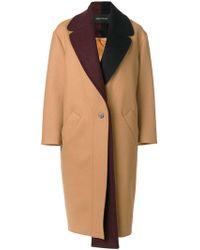 Cedric Charlier - Contrast Collar Coat - Lyst