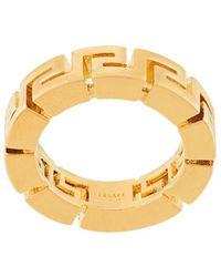 Versace Кольцо С Орнаментом Greca - Металлик