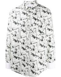 Lanvin グラフィック シャツ - ホワイト