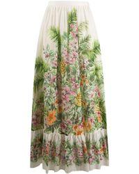 Twin Set Jungle-print Maxi Skirt - Green