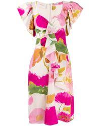 La DoubleJ Date Night Floral Print Dress - Pink