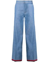 Moncler - Flared Tailored Jeans - Lyst