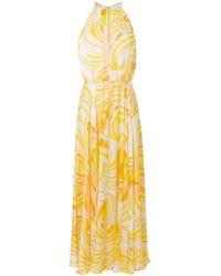 Emilio Pucci - Printed Halterneck Maxi Dress - Lyst