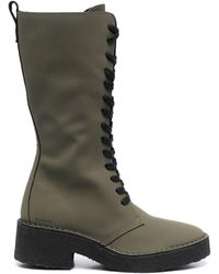 Clarks Leather Mid-calf Boots - Green
