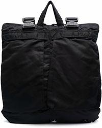Junya Watanabe Buckle-fastening Oversized Backpack - Black