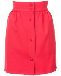 RED Valentino - High Waisted Mini Skirt - Lyst