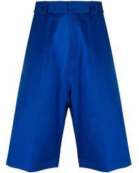 Balenciaga Shorts mit tiefem Schritt - Blau