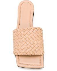Bottega Veneta Плетеные Слиперы - Естественный
