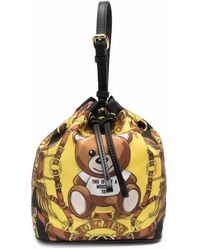 Moschino テディベア バケットバッグ - イエロー