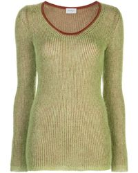 Ferragamo Двухцветный Джемпер - Зеленый