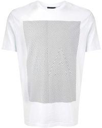 Emporio Armani T-shirt à logo imprimé - Blanc