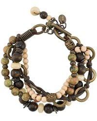 Eleventy Armband mit Perlen - Braun