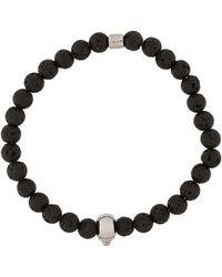 Northskull Atticus Skull Bracelet - Zwart