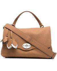 Zanellato Textured Messenger Bag - Brown