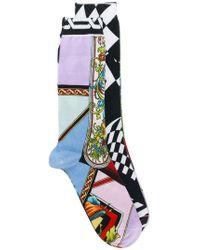 Versace - Pack Of 2 Printed Socks - Lyst