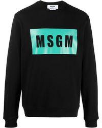 MSGM Толстовка С Круглым Вырезом И Логотипом - Черный