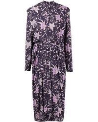 Étoile Isabel Marant Floral-print Midi Dress - Blue