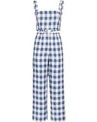 Reformation Ensemble top-pantalon Mara à carreaux - Bleu