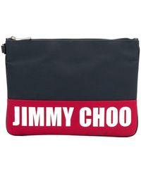 Jimmy Choo - Pochette bicolore à logo imprimé - Lyst