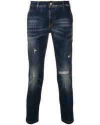 Entre Amis - Distressed Jeans - Lyst