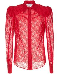 Magda Butrym - Sheer Lace Shirt - Lyst